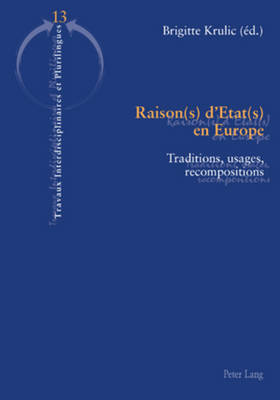 Raison(s) d'Etat(s) en Europe: Traditions, usages, recompositions - Travaux interdisciplinaires et plurilingues 13 (Paperback)