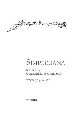 Simpliciana XXXIX (2017) - Simpliciana 39 (Paperback)