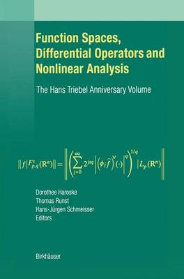 Function Spaces, Differential Operators and Nonlinear Analysis: The Hans Triebel Anniversary Volume (Paperback)