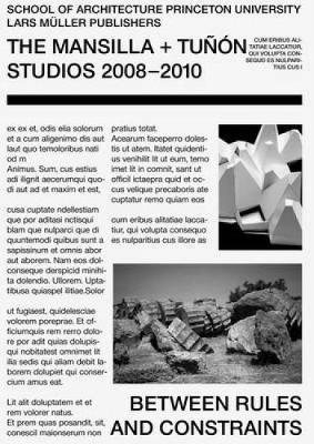 Luis M. Mansilla + Emilio Tunon: From Rules to Constraints (Paperback)