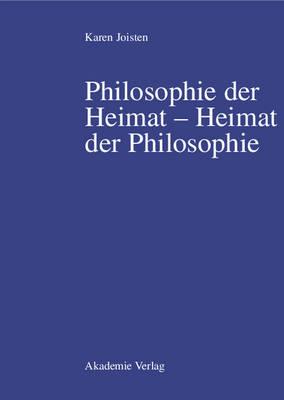 Philosophie Der Heimat Heimat Der Philosophie (Hardback)
