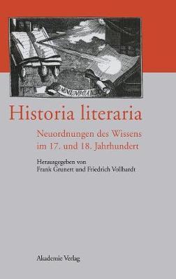 Historia Literaria (Hardback)
