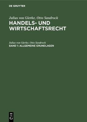 Allgemeine Grundlagen (Hardback)