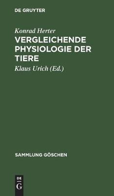 Vergleichende Physiologie der Tiere - Sammlung Goeschen 2609 (Hardback)