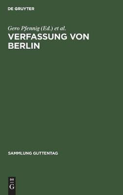 Verfassung von Berlin - Sammlung Guttentag (Hardback)
