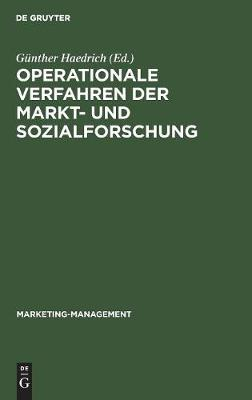 Operationale Verfahren der Markt- und Sozialforschung - Marketing-Management 5 (Hardback)