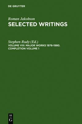 Major Works 1976-1980. Completion Volume 1 (Hardback)