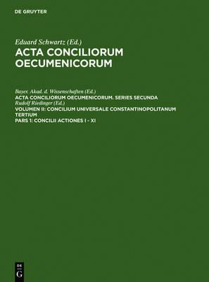 Concilii Actiones I - XI (Hardback)