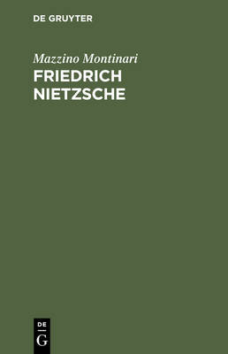 Friedrich Nietzsche: Eine Einf hrung (Hardback)