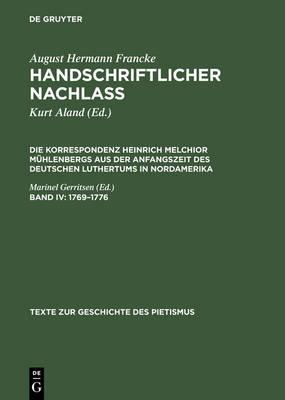 1769 -1776 - Texte Zur Geschichte Des Pietismus 3 (Hardback)