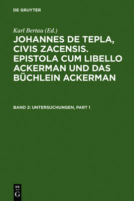 Untersuchungen: Einleitung, Untersuchungen Zum Begleitbrief Und Zu Den Kapiteln 1 Bis 34 Des Textes Und Woerterverzeichnis Mit Exkursen (Hardback)