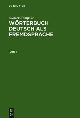 Woerterbuch Deutsch als Fremdsprache (Hardback)