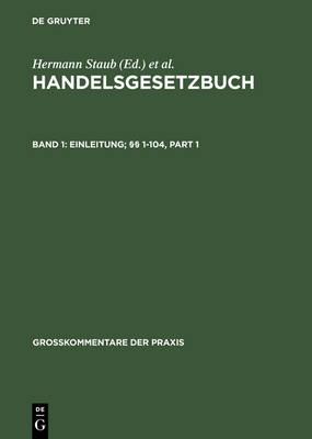 Einleitung; 1-104 - Grosskommentare Der Praxis (Hardback)