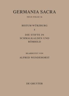 Die Bistumer Der Kirchenprovinz Mainz: Das Bistum Wurzburg 5: Die Stifte in Schmalkalden Und Roemhild (Hardback)