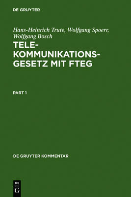 Telekommunikationsgesetz mit FTEG - de Gruyter Kommentar (Hardback)