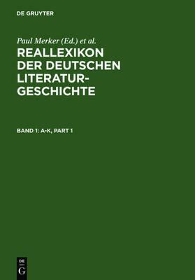 Reallexikon der deutschen Literaturgeschichte (Hardback)