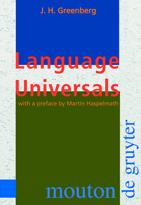 Language Universals: With Special Reference to Feature Hierarchies (Hardback)