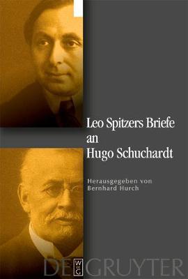 Leo Spitzers Briefe an Hugo Schuchardt (Hardback)