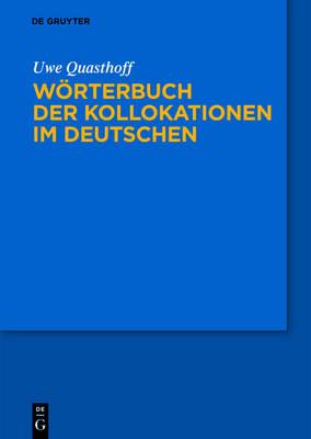 Worterbuch Der Kollokationen Im Deutschen (Hardback)