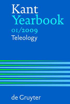 Kant Yearbook: Teleology 1/2009 (Paperback)