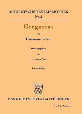Gregorius - Altdeutsche Textbibliothek 2 (Paperback)
