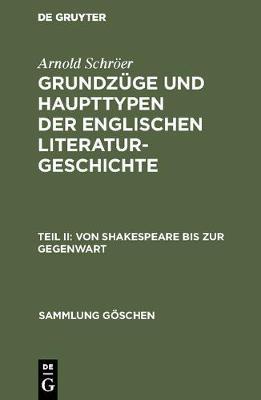 Von Shakespeare Bis Zur Gegenwart - Sammlung G Schen 287 (Hardback)
