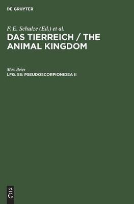 Pseudoscorpionidea II: Subord. C. Cheliferinea (Hardback)