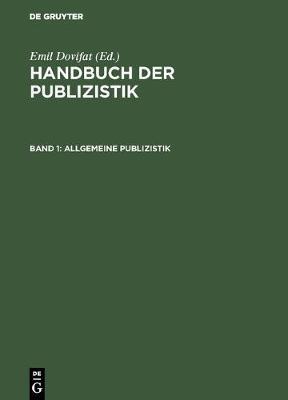 Allgemeine Publizistik (Hardback)