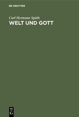 Welt Und Gott (Hardback)