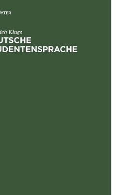 Deutsche Studentensprache (Hardback)