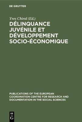 D linquance Juv nile Et D veloppement Socio- conomique - Publications of the European Coordination Centre for Researc 6 (Hardback)