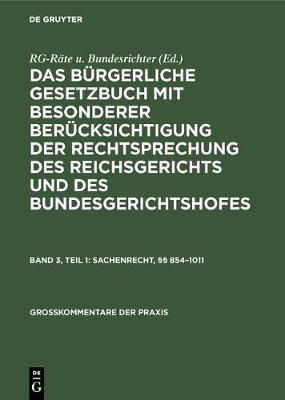 Sachenrecht, 854-1011 - Gro kommentare Der Praxis (Hardback)