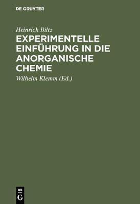 Experimentelle Einfuhrung in Die Anorganische Chemie (Hardback)
