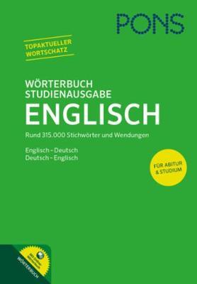 PONS Reference: PONS Worterbuch Studienausgabe Englisch (Hardback)