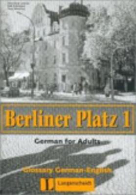 Berliner Platz: Glossar Deutsch-englisch 1 (Paperback)