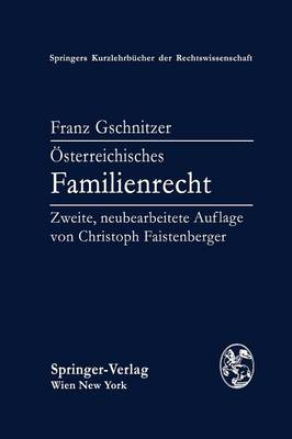 Osterreichisches Familienrecht (Paperback)