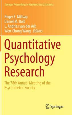 Quantitative Psychology Research: The 78th Annual Meeting of the Psychometric Society - Springer Proceedings in Mathematics & Statistics 89 (Hardback)