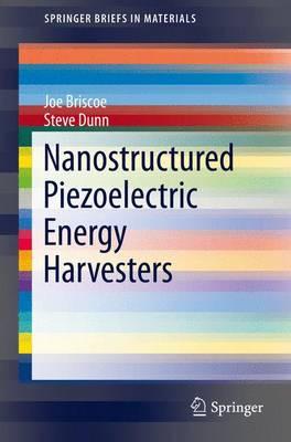 Nanostructured Piezoelectric Energy Harvesters - SpringerBriefs in Materials (Paperback)