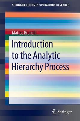 Introduction to the Analytic Hierarchy Process - SpringerBriefs in Operations Research (Paperback)