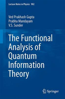 The Functional Analysis of Quantum Information Theory: A Collection of Notes Based on Lectures by Gilles Pisier, K. R. Parthasarathy, Vern Paulsen and Andreas Winter - Lecture Notes in Physics 902 (Paperback)