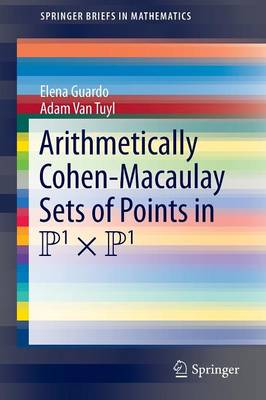 Arithmetically Cohen-Macaulay Sets of Points in P^1 x P^1 - SpringerBriefs in Mathematics (Paperback)