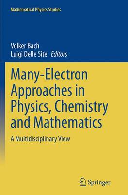 Many-Electron Approaches in Physics, Chemistry and Mathematics: A Multidisciplinary View - Mathematical Physics Studies (Paperback)