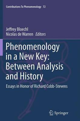 Phenomenology in a New Key: Between Analysis and History: Essays in Honor of Richard Cobb-Stevens - Contributions To Phenomenology 72 (Paperback)