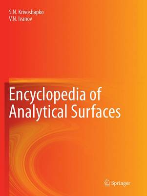 Encyclopedia of Analytical Surfaces (Paperback)