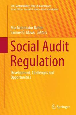 Social Audit Regulation: Development, Challenges and Opportunities - CSR, Sustainability, Ethics & Governance (Paperback)