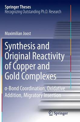 Synthesis and Original Reactivity of Copper and Gold Complexes:  -Bond Coordination, Oxidative Addition, Migratory Insertion - Springer Theses (Paperback)