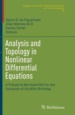 Analysis and Topology in Nonlinear Differential Equations: A Tribute to Bernhard Ruf on the Occasion of his 60th Birthday - Progress in Nonlinear Differential Equations and Their Applications 85 (Paperback)