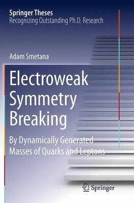 Electroweak Symmetry Breaking: By Dynamically Generated Masses of Quarks and Leptons - Springer Theses (Paperback)