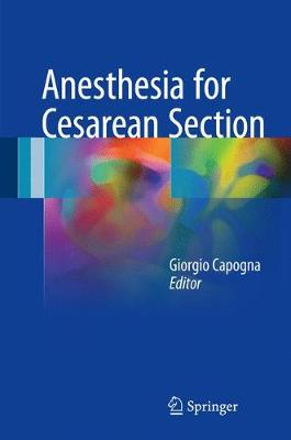 Anesthesia for Cesarean Section (Hardback)
