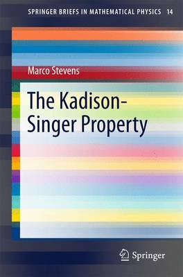 The Kadison-Singer Property - SpringerBriefs in Mathematical Physics 14 (Paperback)